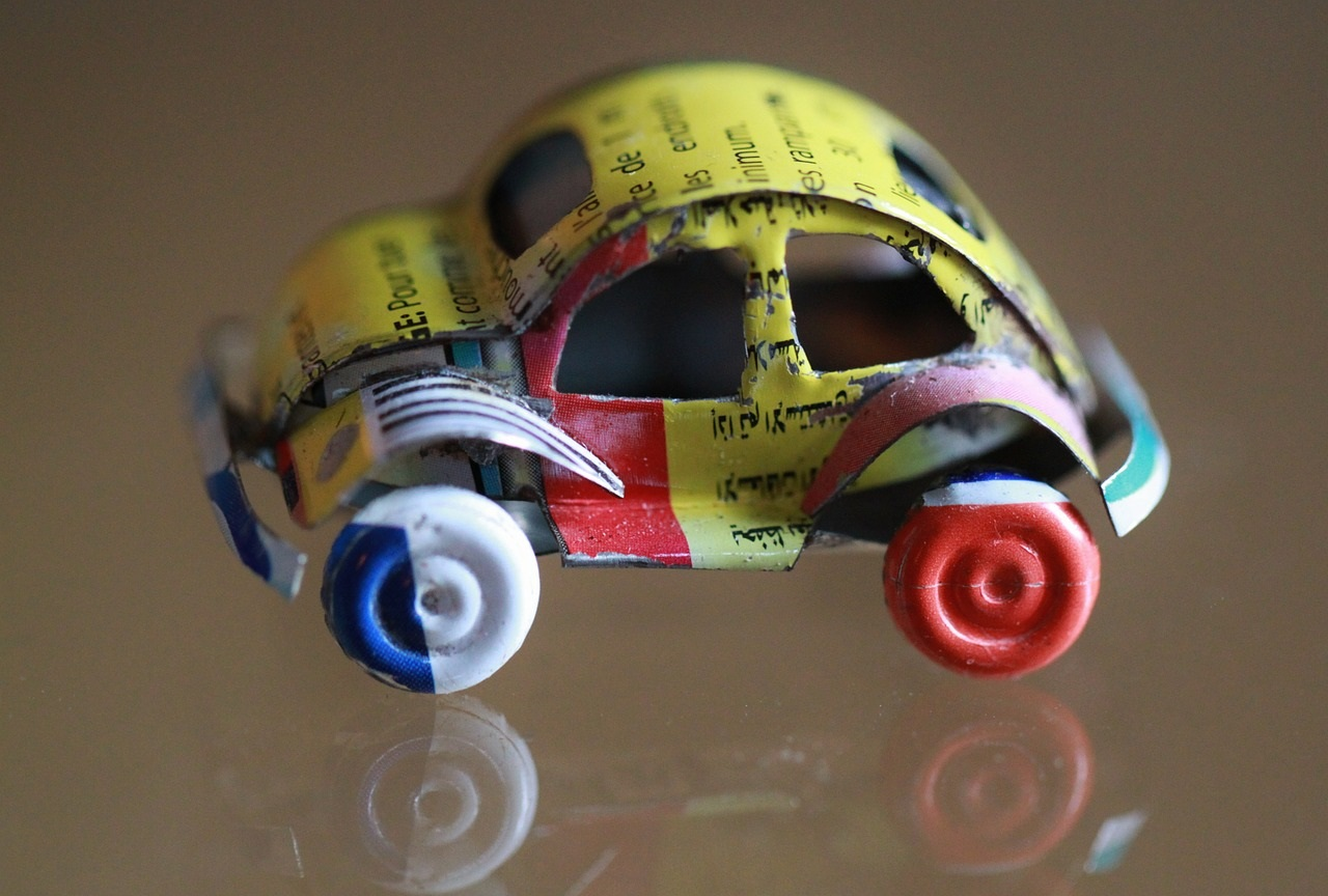 How to make a car out of recycled materials
