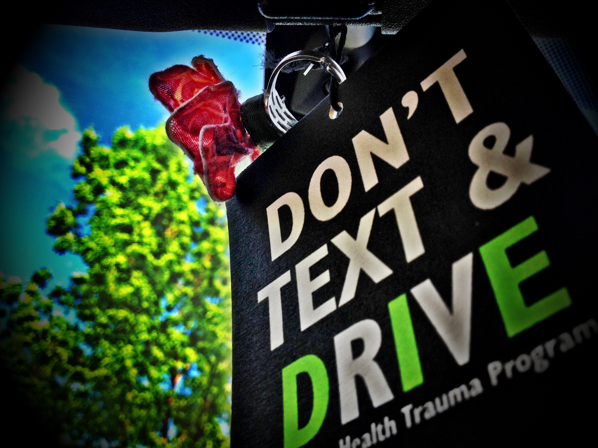 text and drive sign