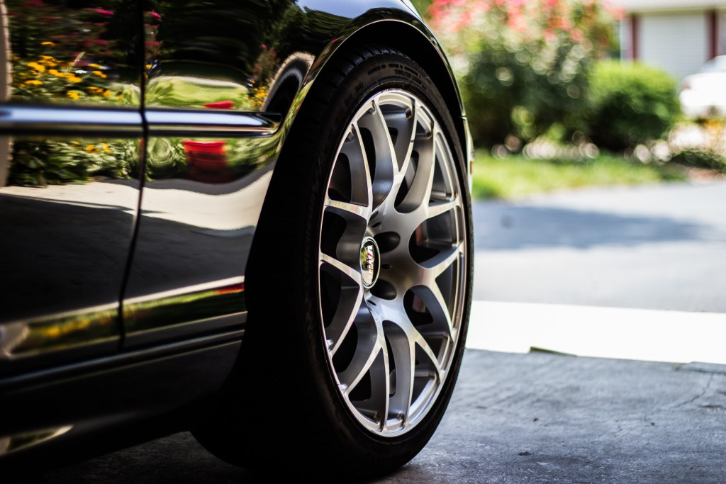 shiny car tires