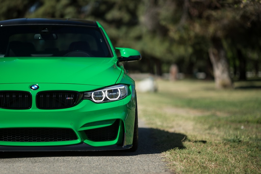 bright green bmw