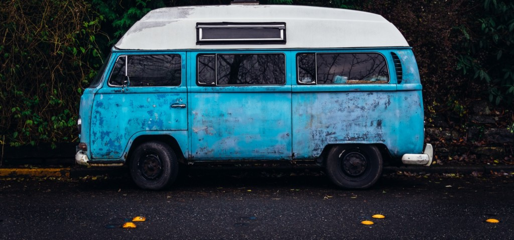 old blue van