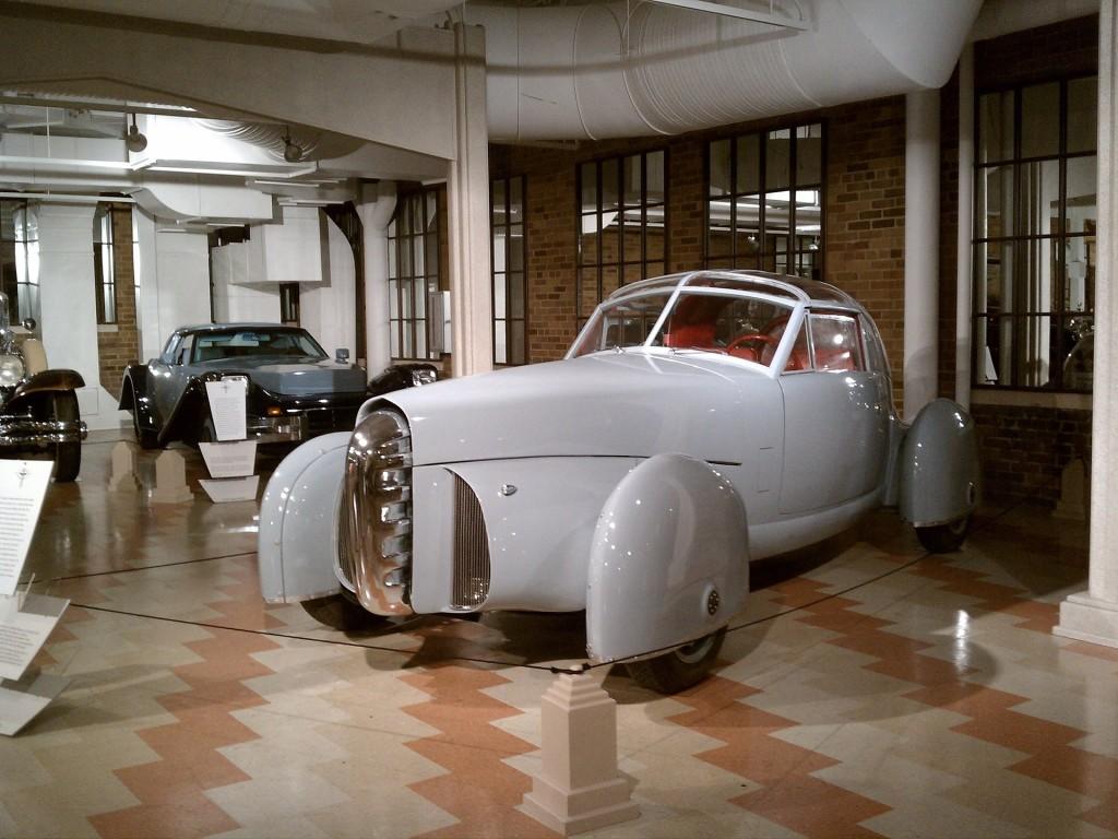 white car museum