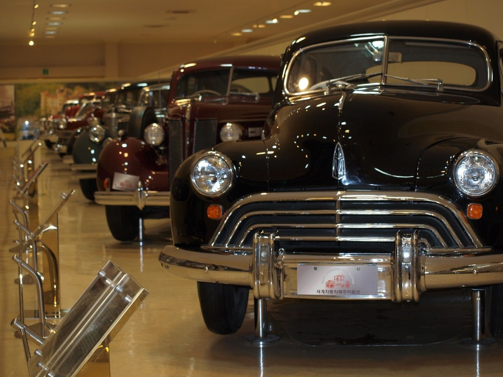 old cars in a row
