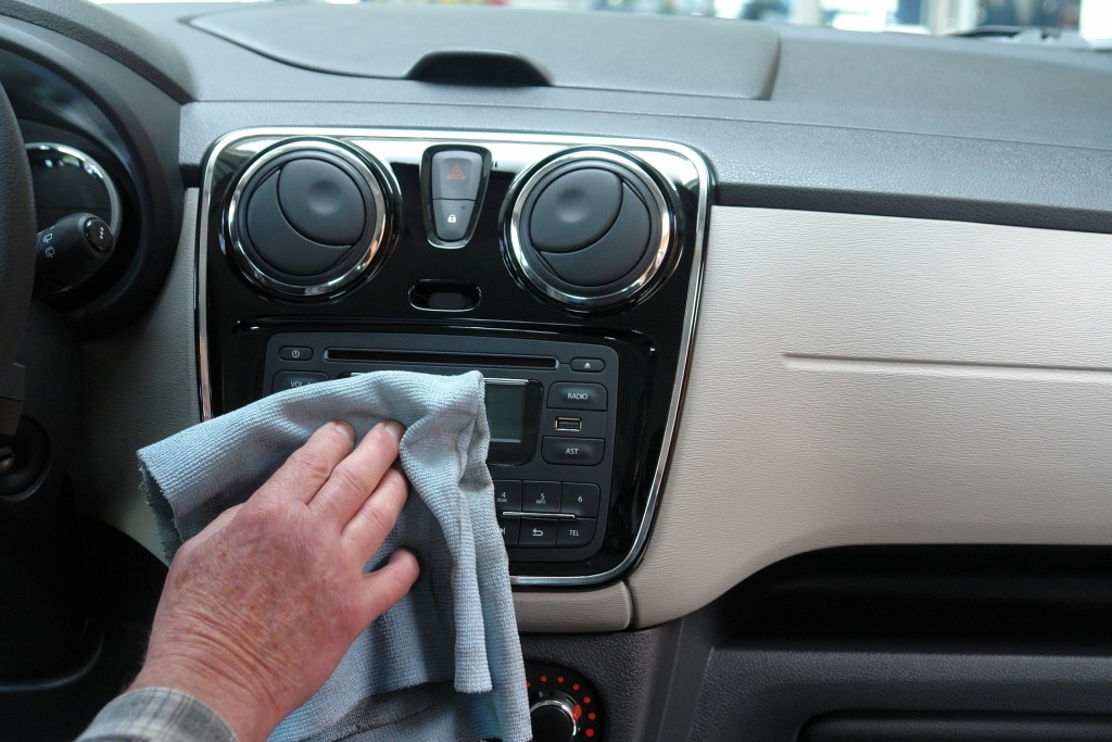 cleaning interior of car