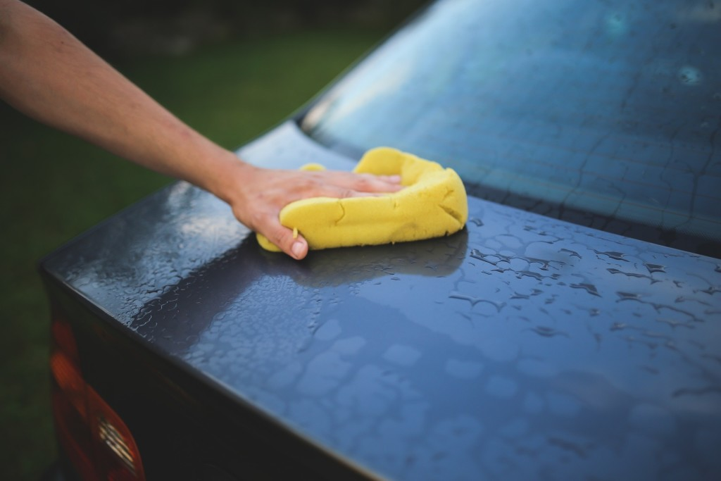drying wet car