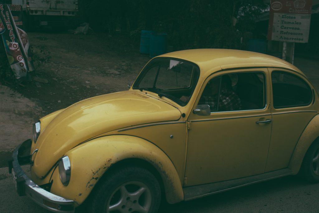 yellow classic vw