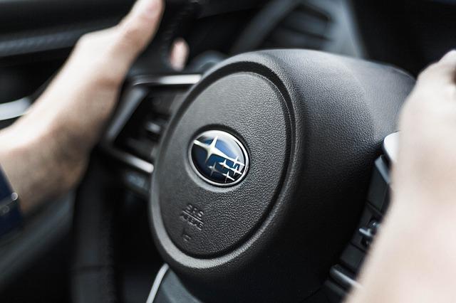 Subaru logo on steering wheel - Subaru Repair - How to Break in Your New Engine